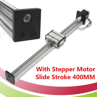400MM Long 1204 Ball Screw CNC Linear Slide Stroke Stage Actuator Stepper Motor