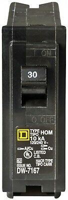 30 Amp One-Pole Circuit Breaker Electrical System Overload Short-Circuit Protect