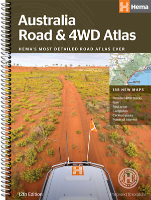 Hema Australia Road & 4WD Atlas (spiral bound) *FREE SHIPPING - NEW*