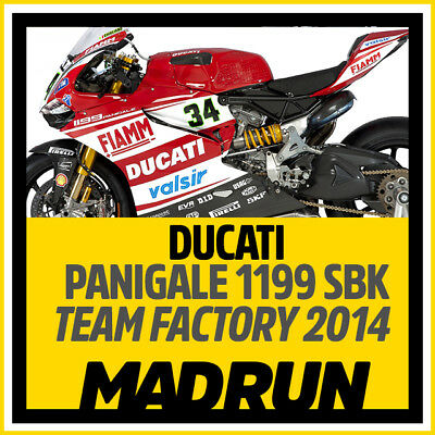 Kit Adesivi Ducati Panigale 1199 - Team Factory SBK 2014  - High Quality Decals