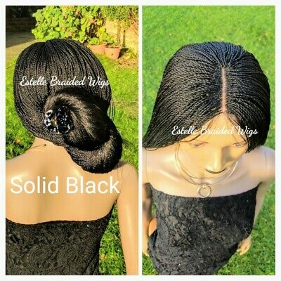 Braided Wig, Micro Twist Braids, Lace Closure, Million Braids Wig! Full Density!