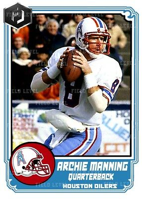 Aceo Archie Manning Houston Oilers Custom Hand Made Art Card