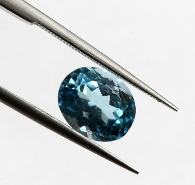 Bright Blue Color 2.26 Ct Natural Oval Cut Bright Blue Color VS Eye Clean Gem A+