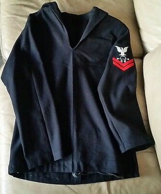 US Navy WWII WW2 World War II Undress Blue Jumper Sonarman PO2c USN Uniform