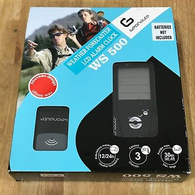 NEW GEONAUTE WEATHER FORECASTER LCD ALARM CLOCK WS 500 Boxed 23192