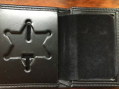 Perfect Fit Shield Sheriff Hidden Badge Wallet (Style No 104/Badge Cut 46 - NEW)