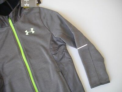 NWT YMD 10/12 - Under Armour Storm Coldgear Hooded Jacket in Gray and Neon