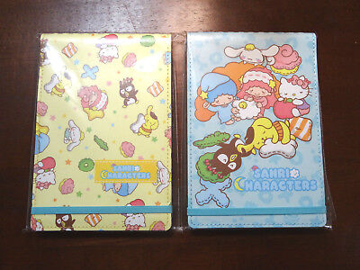 NEW Sanrio Characters Notebook Notepad Bundle Blue and Yellow San-X Hello Kitty