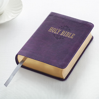 KJV Holy Bible Royal Purple Large Print Compact Edition 10 Point BRAND NEW!!!