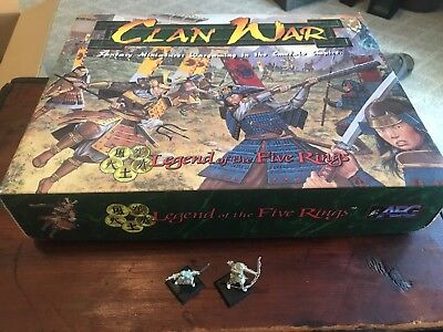 Clan War Legend Of The Five Rings, Fantasy Miniatures+Calvary Expansion, Used