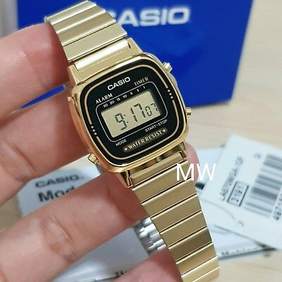 NEW Casio LA-670WGA-1D Ladies Gold Digital Retro Vintage Watch LA670 LA670WGA