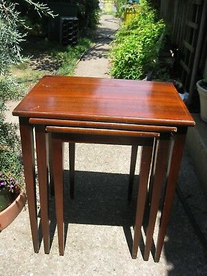 1951  BRANDT Inlaid Mahogany Nesting Tables (3)