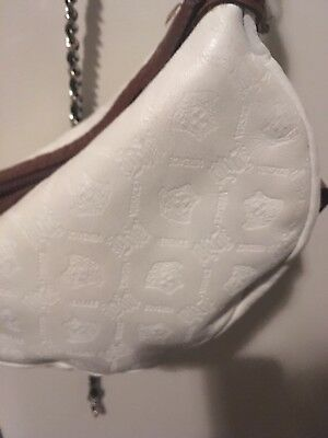 d730f93d36 RARE RUNWAY White Lamb Leather VERSACE MEDUSA Fanny Pack UNISEX ITALY  1325