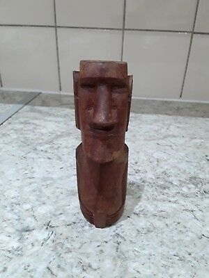 New Zealand  Maori Wooden Standing Tiki Figure...6 Inches Tall
