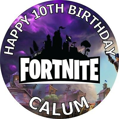 #01JM FORTNITE 2. edible,personalised,wafer,icing,precut,uncut,cake,toppers