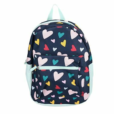 "Colorful Hearts 15"" Backpack Pre School Toddler Book Bag Tote Preschool"
