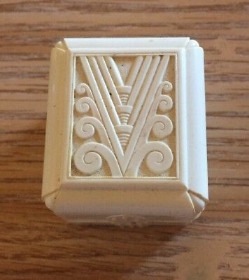 Antique Vintage Celluloid Ornate Ring Box Art Deco Made in USA