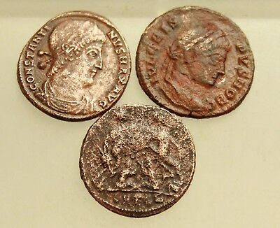 Lot 3x Ancient Roman Coins