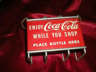 Old Coca Cola Shopping Cart Bottle Holder Metal 1950's In Dads Attic Over 60 Yrs