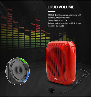 T600 Waistband Headset microphone Voice Amplifier Wired 120HZ-18KHZ For Teaching