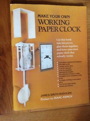 Make Your Own Working Paper Wall Clock, All You Need Is, The Book & Scissors