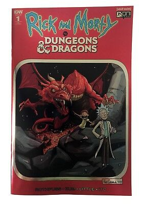 Rick and Morty vs Dungeons & Dragons #1 KRS Exclusive RED FOIL Variant Cover NM