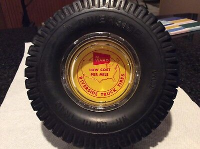 Vintage Montgomery Ward ASH Tray Tire Riverside promotional Ash Tray