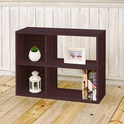 Way Basics Eco 2 Shelf Chelsea Bookcase And Cubby Storage