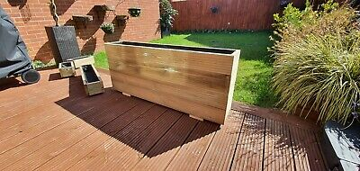 Decking Wooden Garden Planters Outdoor Crate/Trough/Box Handmade 120cm ANY SIZE