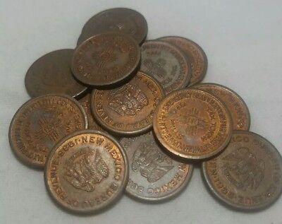 One 1935 New Mexico Emergency School Tax On Purchase Of Five Cents Token 5 MILLS