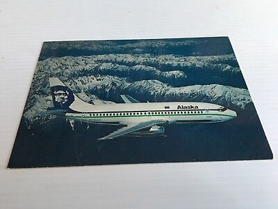 Alaska Airlines Boeing 737-290C Twin Jet Airline Issue Postcard