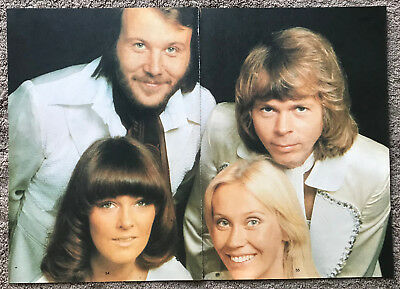 ABBA - 1980 UK Magazine annual 2-page poster