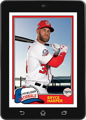 Topps BUNT Bryce Harper SHORT PRINT ARCHIVES 2018 Wave 3 [DIGITAL CARD]