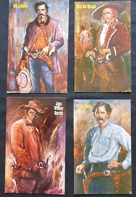 4 Uncirculated Post Cards:  GUNFIGHTERS of the OLD WEST  #2111