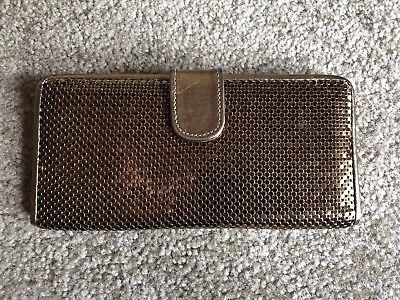 WHITING DAVIS Vintage Gold Mesh Metal Bifold Wallet EXCELLENT CONDITION