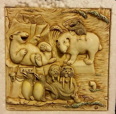Harmony Kingdom Picturesque Tile Figurine Noah's Park Glacier Falls #PXNE3