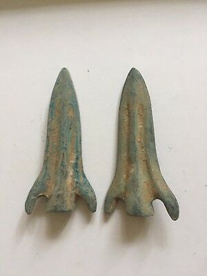 2 pieces bronze arrowhead coin hot-sale ancient Chinese money currency curio