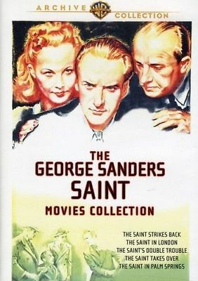 The George Sanders Saint Movie Collection Dvd=2 Discs=5 Movies=Region 0=Like New