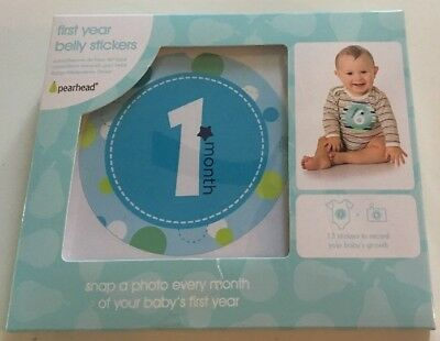 Baby Boy First Year Belly Sticker Set Milestone Photo Prop Belly Stickers Months