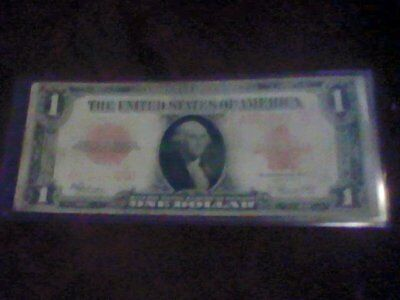 1923 $1 One Dollar United States Red Seal Large Size Currency Note