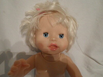 2007 Fisher Price Mattel Little Mommy Ah Choo Talking Sneezing Baby Doll 14""