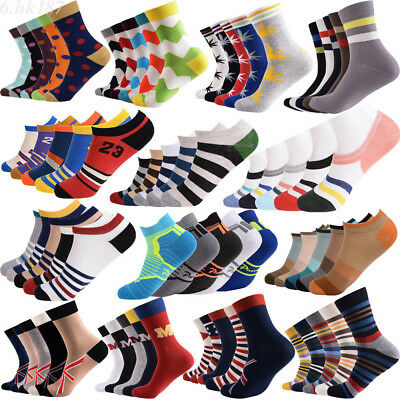 5 Pairs Cotton Ankle Socks Lot Mens Unisex Womens Casual Sports Athletic Socks
