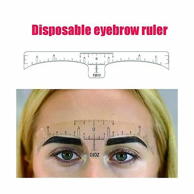 50pcs Disposable Soft Accurate Eyebrow Ruler Sticker Microblading Makeup Tools,