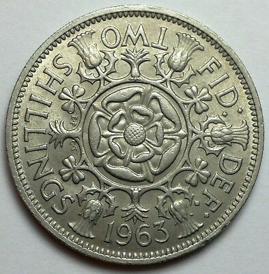 1963 Great Britain 2 Shilling coin, UK