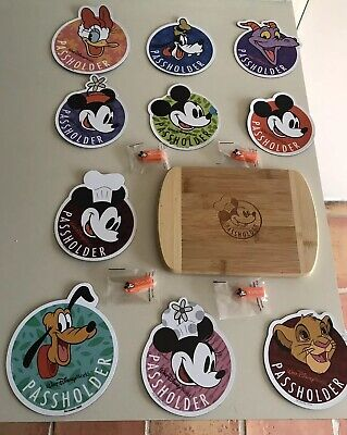 WDW Annual PASSHOLDERS MAGNETS + SIMBA, CHEF MINNIE, CHEF MICKEY, CUTTING BOARD