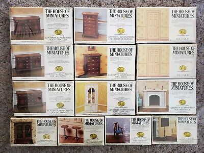 House Of Miniatures Dollhouse Furniture Kits New Sealed Nib Lot Of 13