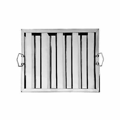 """Stainless Steel Hood Filter, 20"""" x 16"""" (Pack of 6)"""