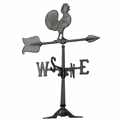 Whitehall Rooster 24 in. Accent Weathervane, Black
