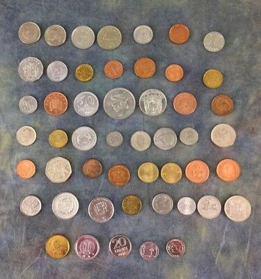 Countries of the World Coin Collection w/ Chart 50 Countries 50 Coins Currency