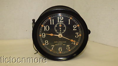 US WWII US NAVY USN MARK I-DECK BAKELITE CLOCK d. 1942 No. 36747 SETH THOMAS